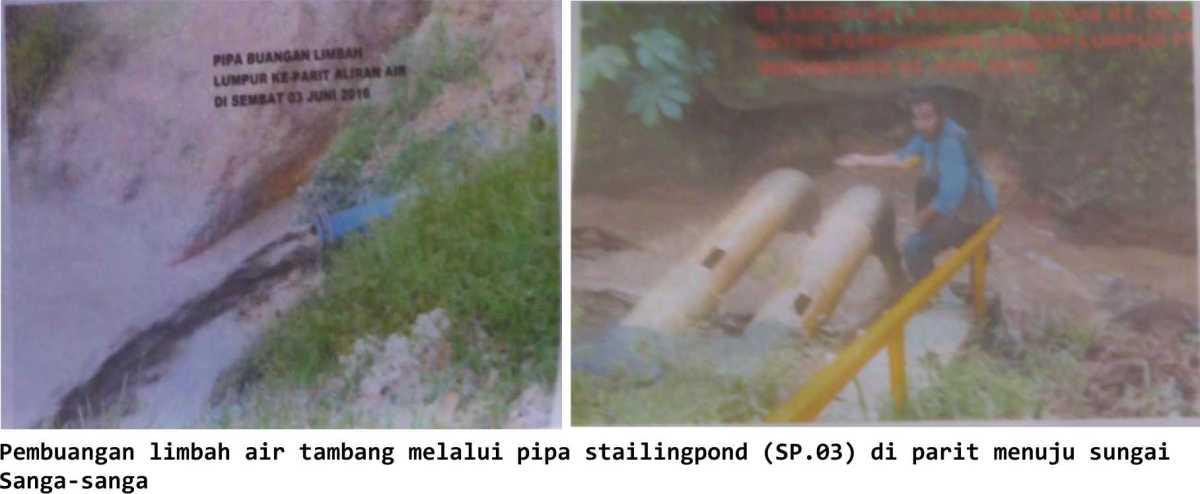 PT. Indomining  'bebas' buang Limbah air tambang ke SungaiSanga-Sanga,   diduga ada izin oknum petinggi  BLHD Kukar  ??