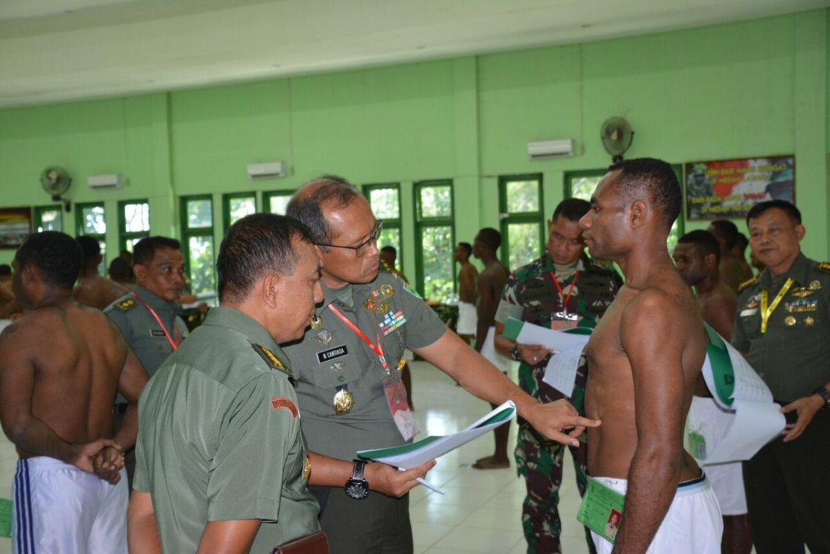 KASDAM XVII/CENDERAWASIH PIMPIN SIDANG SECATA PK TNI AD GELOMBANG I TAHUN 2018